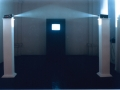 """Apearent End - Triumphal-Arch"", series: ""Outside - Inside Games"" 1997; light installation"