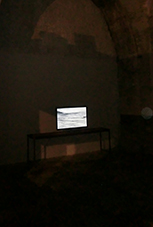 "Hector Solaris, video-installation, ""Not I"" Site Specific Galleries, Scicli, Sicily, Italy 2015"