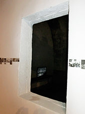 "Pawel Korbus, photography installation,""Not I"" Site Specific Galleries, Scilia, Sicily, Italy 2015"