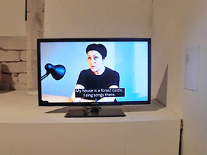 "Kasia Kujawska-Murphy, video-presentation, ""Not I"" Site Specific Galleries, Scicli, Sicily, Italy 2015"