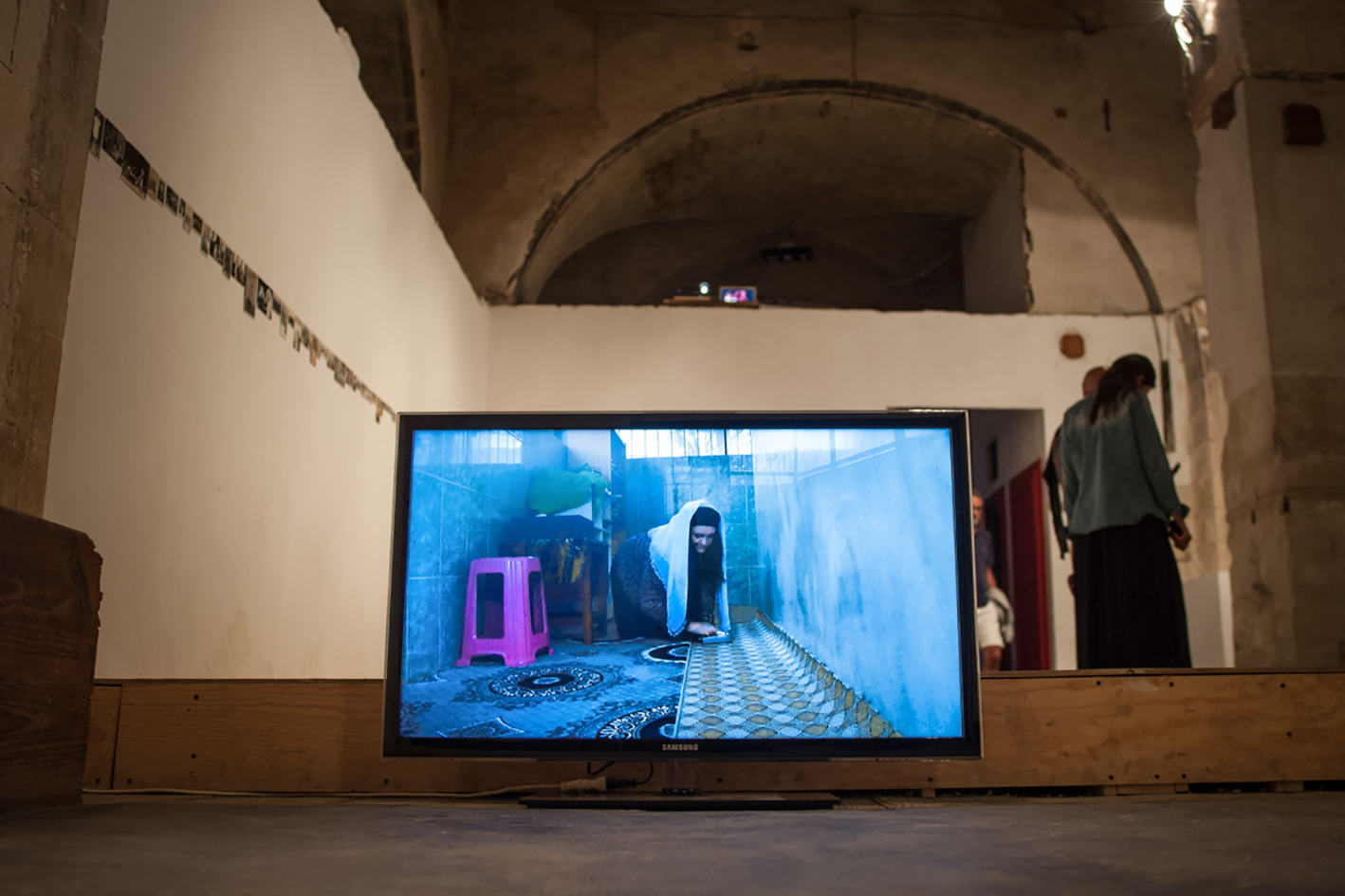 "Maria Wronska, video-installation, ""Not I"" Site Specific Galleries, Scicli, Sicily, Italy 2015"