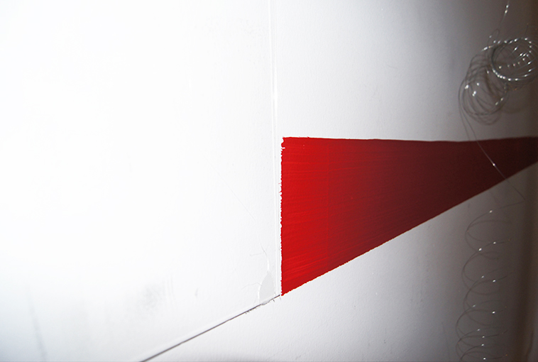 """Kasia Kujawska-Murphy, """"Silence in Slow Motion"""" - """"Red Line"""", solo show, Westbeth – Lou Reed Studio, New York City, Manhattan, 2015"""