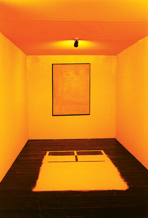 """painting Installation """"For Yellow"""""""